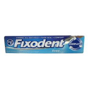 Fixodent Free Denture Adhesive Cream, Strong And Long Hold - 70ml, 2 Pack