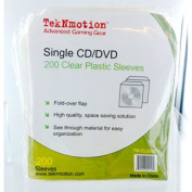 TekNmotion Single Disc Plastic Sleeves, Clear