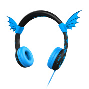 iClever Kid Headphones Wing Ear Safe-Listening Headphone with Volume Limiting for Kids, Blue