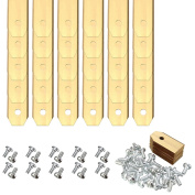 30pcs Gold Titanium Replacement Lawnmower Blades with Screws for Mower Accessories 0.6mm