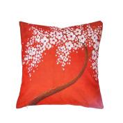 Kicode Fashion Tree Flower Linen Pillow Case Throw Cushion Cover Office Sofa Party Home Decor