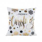 Kicode Christmas Gold Metallic Pillow Case Cushion Cover Sofa Waist Household Home Decor Creative