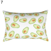 Fashion Tower Tree Animal Avocado Pattern Pillow Case Cushion Cover Home Decor