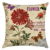 ZebraSmile Roses Pillow with Pillowfillow Sofa Throw Cushion Party Home D¨¦cor For Car Chair Seatback Cushion with Inner Home Sofa 43cm x 43cm