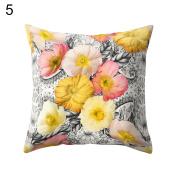 Fashion Flower Print Throw Pillow Case Sofa Cushion Cover Home Car Decor