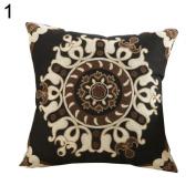 Vintage Flower Phoenix cPillow Case Sofa Waist Throw Cushion Cover Home Decor
