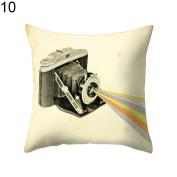 timeracing Fashion Modern Camera Print Sofa Bed Chair Pillow Case Cushion Cover Home Room Decor