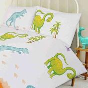 Dinosaur Footprints Toddler Bedding