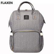 LAND Large Baby Nappy Backpack Mommy Changing Bag Mummy Nappy- Flaxen