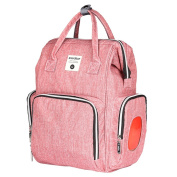 MagiDeal Large Capacity Nappy Bag Backpack Baby Nappy Changing Bag with Insulated Pockets - Pink, as described