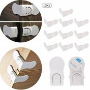 iiniim Child Safety Locks - (10Packs) Refrigerator Fridge Freezer Door Lock Latches Catch Toddler Kids Child Baby Cabinet Locks