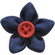 CHUANGLI Men's Flower Button Corsage Vintage Handmade Boutonniere Lapel Pin for Banquet Wedding Party