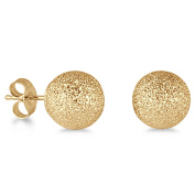 Marquee Jewels 14k Yellow Gold Laser-cut 8-mm Ball Stud Earrings