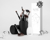Niré Beauty Next Level Kabuki Makeup Brush Set:Your Essential Make up Brushes + FREE Cleaning tool ** Top Quality Face & Eye Makeup brushes** perfect Christmas Gift