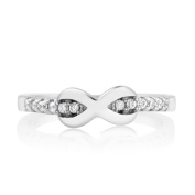 Beverly Hills SIlver Sterling Silver Cubic Zirconia Infinity Midi Ring