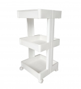 Honour Jojoba Plastic Storage Trolley 3 Tier Vegetable Rack for Kitchen Bathroom Garage Storage