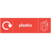 WRAP Recycling Signs - Recycle Now Signs - Self Adhesive Vinyl Sticker