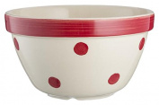 Mason Cash Red Spots Chip Resistant Earthenware S36 (16cm) All Purpose Pudding Basin Bowl, Ceramic, Red/White, 16 x 16 x 9 cm
