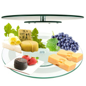 45 cm Glass Lazy Susan Rotating Turntable Serving Plate Cheese Tempered Plate