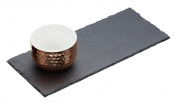 MasterClass Artesà Slate Serving Tray and Copper-Finish Bowl Set