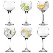 6 x Large Gin Balloon Glasses Copa Gin & Tonic Glasses For Cocktail & G & T