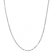 Fremada Sterling Silver Cable Link Chain Necklace