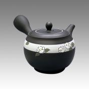 TOKYO MATCHA SELECTION - Tokoname Kyusu teapot - SHUNJYU - Camellia 340cc/ml - obi ami stainless steel net [Standard ship by Int'l e-packet