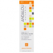 Andalou Naturals, Natural Glow, 3 in 1 Treatment, Argan Oil + C, Brightening, 1.9 fl oz (56 ml)
