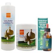 "Alter Ego Garlic Shampoo & Garlic Mask Treatment Plus A 1000ml & Cren Energising Lotion 125ml ""Set"""