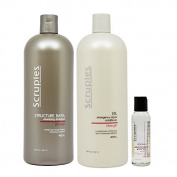 "Scruples Structure Bath Volumizing Shampoo & ER Emergency Repair Conditioner 1000ml & Renewal Hair Therapy Polish 60ml ""Set"""