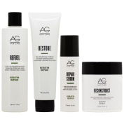 "AG Hair Refuel Shampoo 300ml + Restore Conditioner 180ml + Repair Serum + Reconstruct Mask ""Set"""