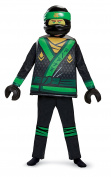 Childs Boys Lego Ninjago Movie Green Lloyd Fancy Dress Costume (Small
