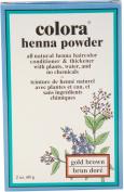 2 Pack - Colora Henna Powder Hair Colour Gold Brown, 60ml
