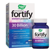 Nature's Way Primadophilus Fortify Women's Probiotic, 30 Billion Active Cultures, Guaranteed Potency, Researched Strains, Delayed Release, 30 Vegetarian Capsules, Gluten-Free