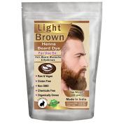 1 Pack of Light Brown Henna Beard Dye For Men 100 Grammes - The Henna Guys