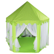 Multiware Deluxe Kids Princess Castle Play House, Great Gift for Girls Boys Hexagon Play Tent Green