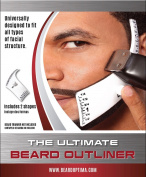 Beardoptima Beard Outliner Perfect Beard Shaper Facial Hair Tool Lineup Template
