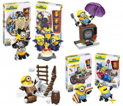Despicable Me Minions Figure Mega Bloks Building Toy Deluxe Collector Set Of 6