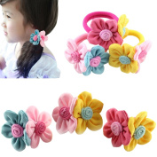 Children's Elastic Hairband Butterfly Ponytail Hair Accessories 4