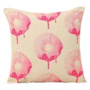 Profusion Circle Pink Colour Love Heart Linen Throw Pillowcase Pillow Cushion Cover Case Cafe Home Sofa Decor