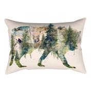 Little Finger Creative Abstract Animal Print Pillow Case Zipper Cushion Cover Home Room Decor