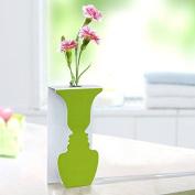 Bazaar Creative Beauty Face Shape Light Practical Art LED Lamp With Vase Decorative Lights Wall Decor