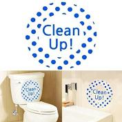 Bazaar Creative DIY Waterproof Toilet Sticker Bathroom Wall Stickers