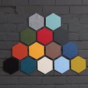 Bazaar Honana Creative Colourful Hexagon Wool Felt Multifunctional Wall Sticker Smart Collect Board