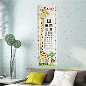 Bazaar Kid Baby Giraffe Lion Vision Testing Chart Wall Sticker Removable Home Kindergarten Decor