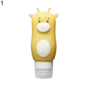 17YEARS Cartoon Animal Cute Portable Silicone Travel Bottles Cosmetics Shampoo Container