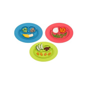 Baby Silicone Smile Plate Green