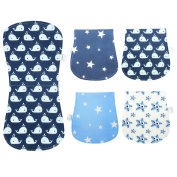 Baby Burp Cloths Waterproof Burpy Bib Set 4 Pack 100% Organic Cotton Triple Layer for Boys Girls by YOOFOSS