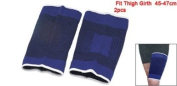 2pcs Elastic Sports Thigh Brace Support Compression Sleeve Blue