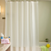 Plastic Shower Curtain Eco-friendly Waterproof Mold Proof Solid PEVA Bathroom Curtains with Hooks White